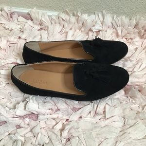 J crew tassel front loafers
